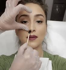 viral nose waxing