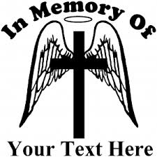 Angel Wings Cross Halo In Memory Decal Car Or Truck Window Decal Sticker Rad Dezigns