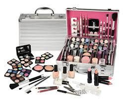 64 piece makeup vanity case cosmetic