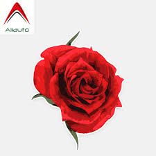 Aliauto Personalized Car Stickers Pretty Red Roses Flowers Decor Vinyl Decal For Volkswagen Renault Opel Seat Vw 12cm 9cm Car Stickers Aliexpress