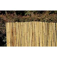 Hampton Bay 6 Ft X 8 Ft Natural Full Round Bamboo Fence 4477403 The Home Depot