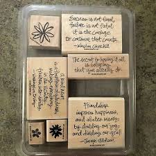 stampin up friendship flowers set inspirational quotes churchill