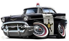 1957 Chevy Police Car Turbo Fire Graphic Wall Decal Home Decor 316274134
