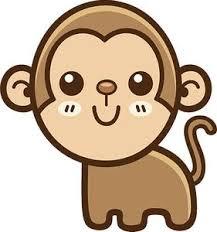 Cute Simple Kawaii Animal Cartoon Icon Monkey Vinyl Decal Sticker Shinobi Stickers
