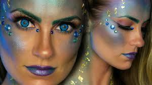 glam mermaid halloween makeup tutorial