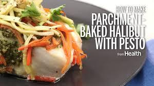 Baked Halibut With Pesto, Zucchini ...