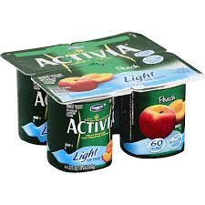 dannon activia light peach nonfat