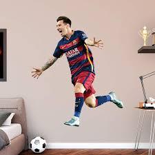 Fathead Fc Barcelona Lionel Messi Celebration Wall Decal Walmart Com Walmart Com