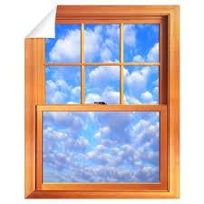 Small Fake Window Wall Decal Fake Window Window Poster Faux Window