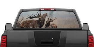 Elk Buck Deer Snow Rear Window Graphic Decal For Truck Suv Etsy