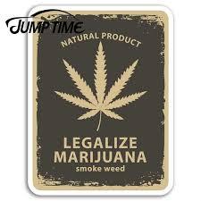 Jump Time For Marijuana Vinyl Stickers Weed Dope Fun Sticker Laptop Luggage Bumper Decals Waterproof Car Accessories Car Stickers Aliexpress