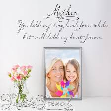 Mothers Day Quotes Wall Decal Ideas For Mom Simple Stencils