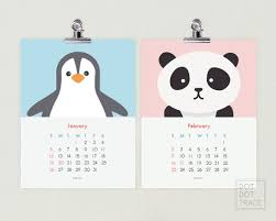 Nursery Art Calendar 2020 Calendar For Kids Printable Nursery Etsy