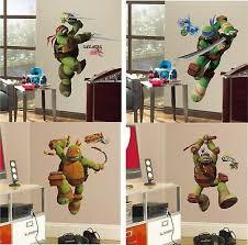 Tmnt Set Giant Wall Decals Teenage Mutant Ninja Turtles Stickers Kids Room Mural 19 99 Picclick