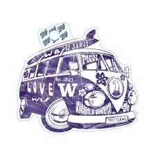 Blue 84 Uw Sticker Retro Van