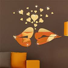 Kissing Lip Wall Sticker Diy D Decorative Mirror Mirrored Wall Independence