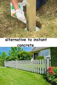 Quicker And Easier Alternative To Instant Concrete Favorite Concrete Posts Concrete Diy Deck