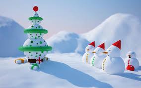 snowmen and snow tree funny