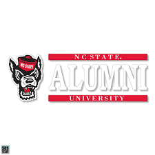 Nc State Wolfpack Wolfhead Alumni Vinyl Decal Red And White Shop