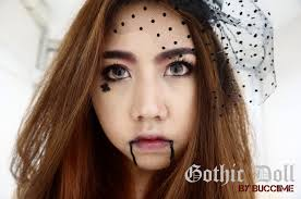 gothic doll makeup looks by bucciime