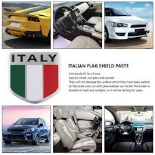 Badge Decal Beautiful Aluminum 3d Metal Italian Flag Sticker For Car Decoration Buy At A Low Prices On Joom E Commerce Platform