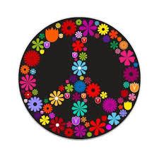 Floral Peace Sign Large Size Vinyl Sticker Decal For Truck Car Cornhole Board Sticker 16 Walmart Com Walmart Com