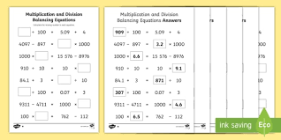 uks2 multiplication and division