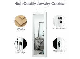 lockable wall mount mirrored jewelry