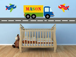 Construction Transportation Plane Truck Wall Decals Kids Wall Etsy