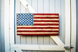 american flag wall art wood american