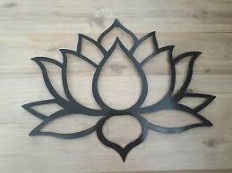 lotus flower metal art black wall