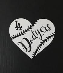 Amazon Com Ericaubird Decal Sticker Los Angels Dodgers Baseball Heart Vinyl Car Decal Sticker Bumper Sticker Wall Art Home Kitchen