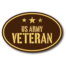 Us Army Veteran 4x6 Brown Oval Magnet Decal With Stars Etsy