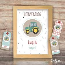 Kit Tractor Imprimible Personalizable