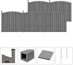 Wpc Fence Set 5 Curved 932x Cm Grey Hardware Fencing Amazon Co Uk Electronics
