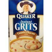 quaker instant grits country bacon