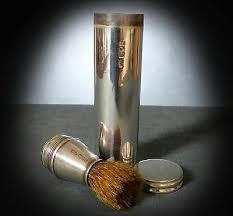 hall marked sterling silver shaving kit