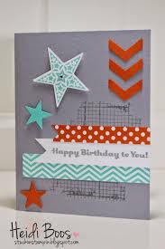 Stuck On Stampin Happy Birthday Stars Tarjetas Making Ideas