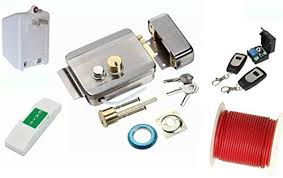 electric gate lock and remotes 01x