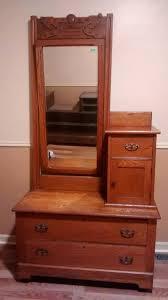 antique oak side dresser w mirror