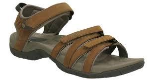 teva tirra leather sandals rust