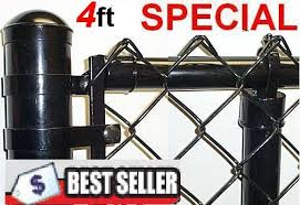 4 Ft Vinyl Coated System Complete Includes 2 X 9 Ga Mesh 1 3 8 Top Rail 1 5 8 Line Posts And Hardware
