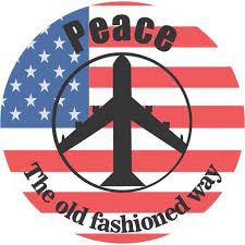 4 5in X 4 5in Peace Bomber Us Flag Bumper Sticker Decal Car Window Stickers Decals Walmart Com Walmart Com