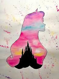 disney princess watercolour art