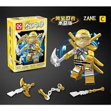 Buy 6pcs Golden Ninjagoes Figure Ninja Heroes Kai Jay Cole Zane ...