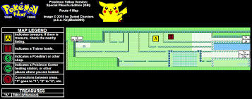 Pokemon Yellow Version: Special Pikachu Edition Route 4 Map Map ...