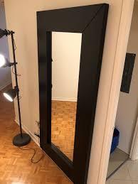 ikea mongstad mirror black brown