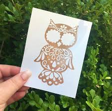 Amazon Com Glitter Owl Die Cut Decal Sticker For Tumblers Phone Case Car Window Mirrors And More Handmade