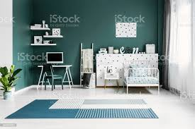 Spacious Green Kids Room Interior Stock Photo Download Image Now Istock