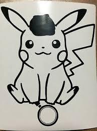 Detective Pikachu Pokemon Cute Kawaii Vinyl Decal Sticker For Car Laptop Console Ebay